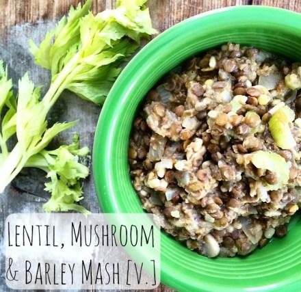 Lentil Mushroom Barley Mash