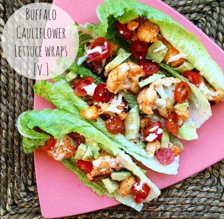 Vegan Buffalo Cauliflower Wraps