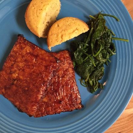 Baked BBQ Tempeh Vegan Recipe