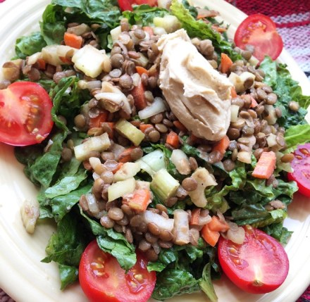 Lentil Hummus Salad Recipe