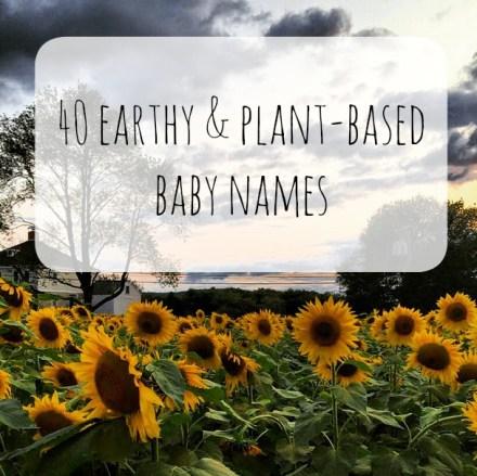 Earthy Baby Names