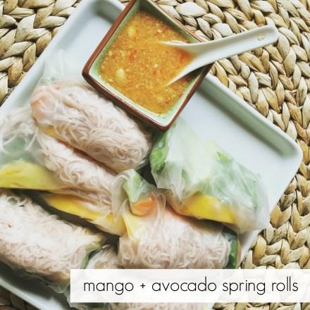 Mango Avocado Spring Rolls Recipe
