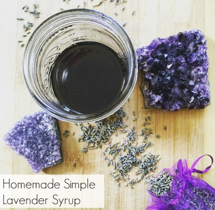 Homemade Simple Lavender Syrup