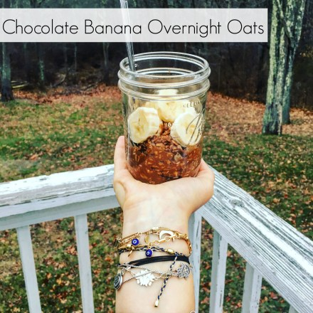 Vegan Chocolate Banana Overnight Oats