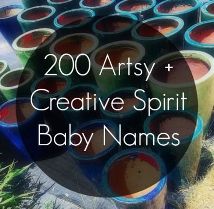200 Artsy Creative Spirit Baby Names
