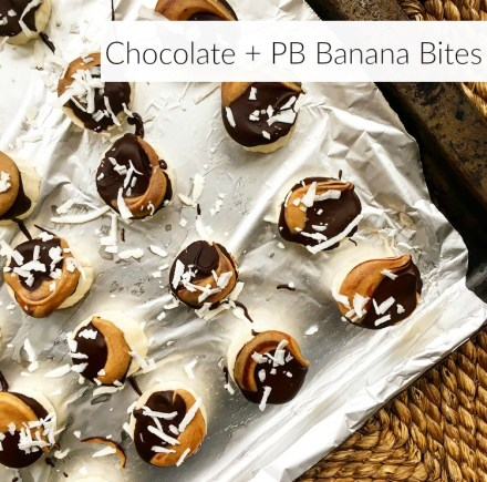 Chocolate + PB Banana Bites Vegan