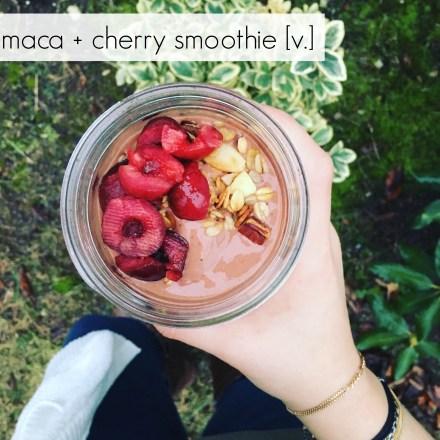 Vegan Maca Cherry Smoothie