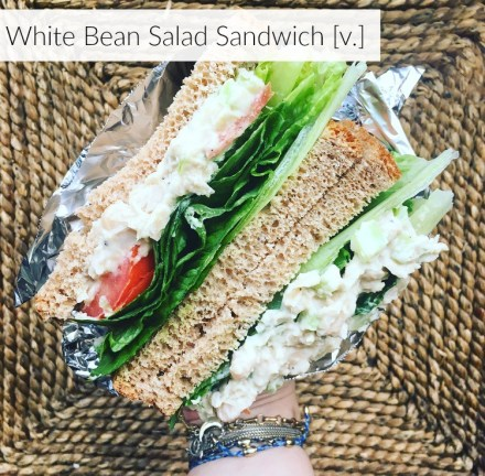 Vegan White Bean Salad Sandwich