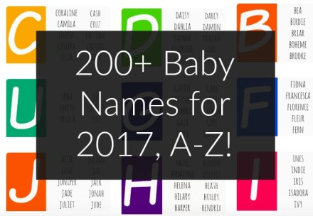 200 Baby Names 2017