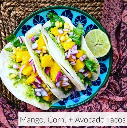 Mango, Corn, + Avocado Tacos