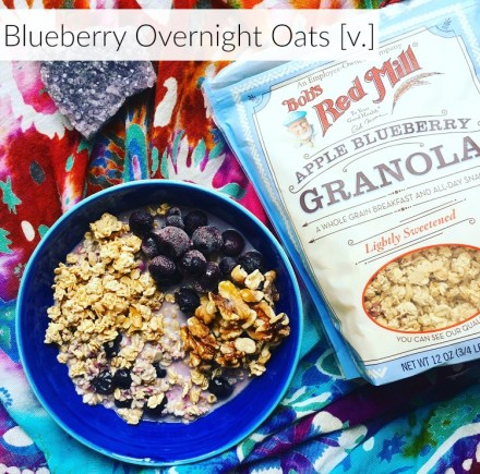 Vegan Blueberry Overnight Oats