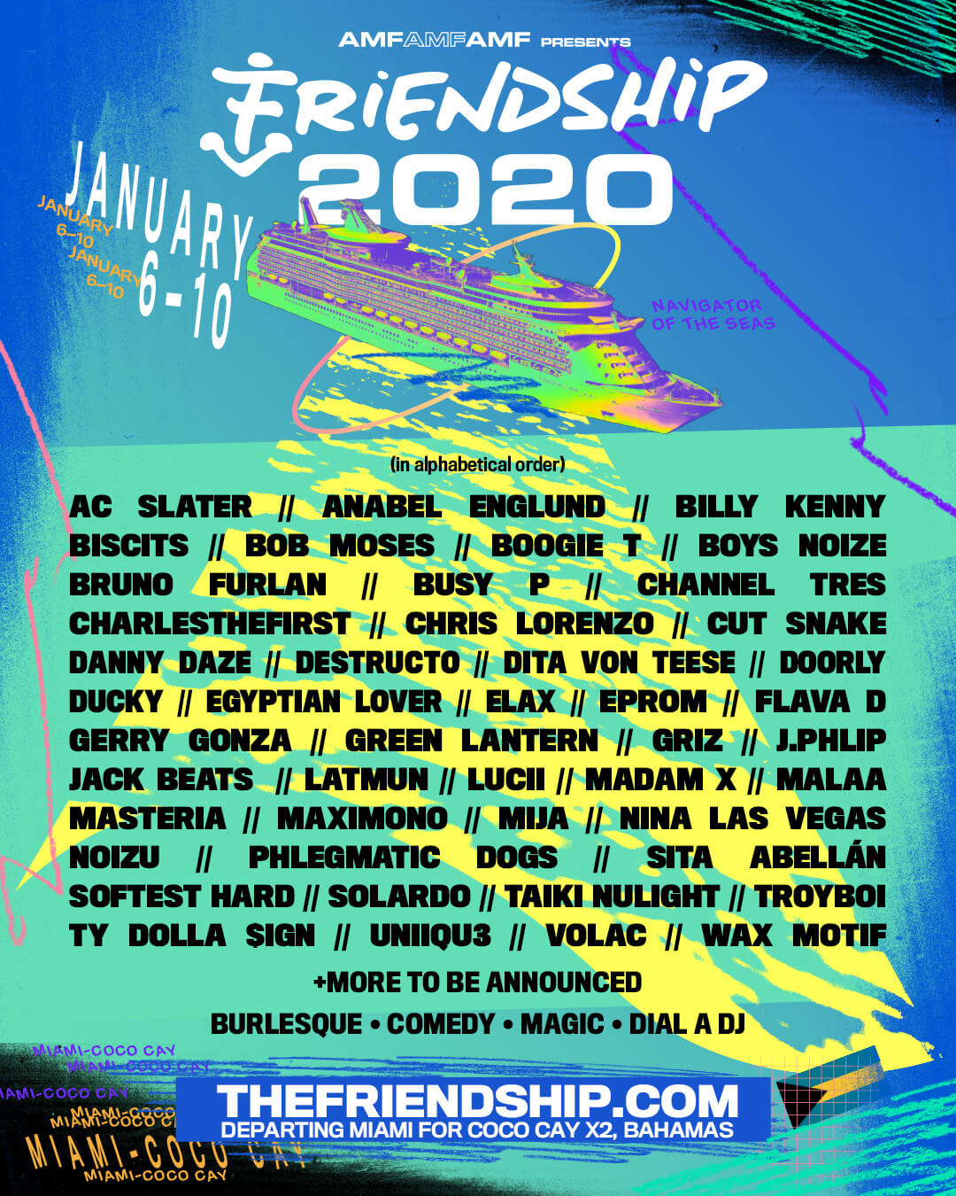 Image result for friendship 2020 lineup