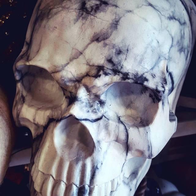 Marble Skull homegoods halloween merchandise skull