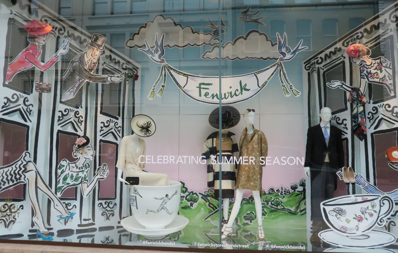 Fenwick Bond Street Londra vetrina