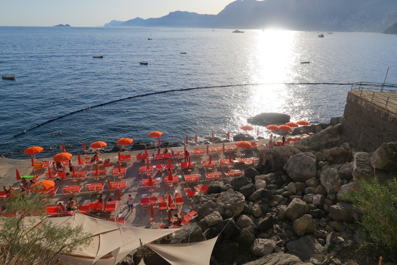 Sunny Gavitella beach. Positano.