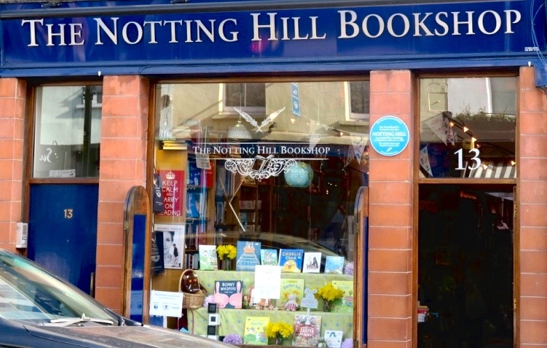 Exterior of Notting Hill Bookshop in London
