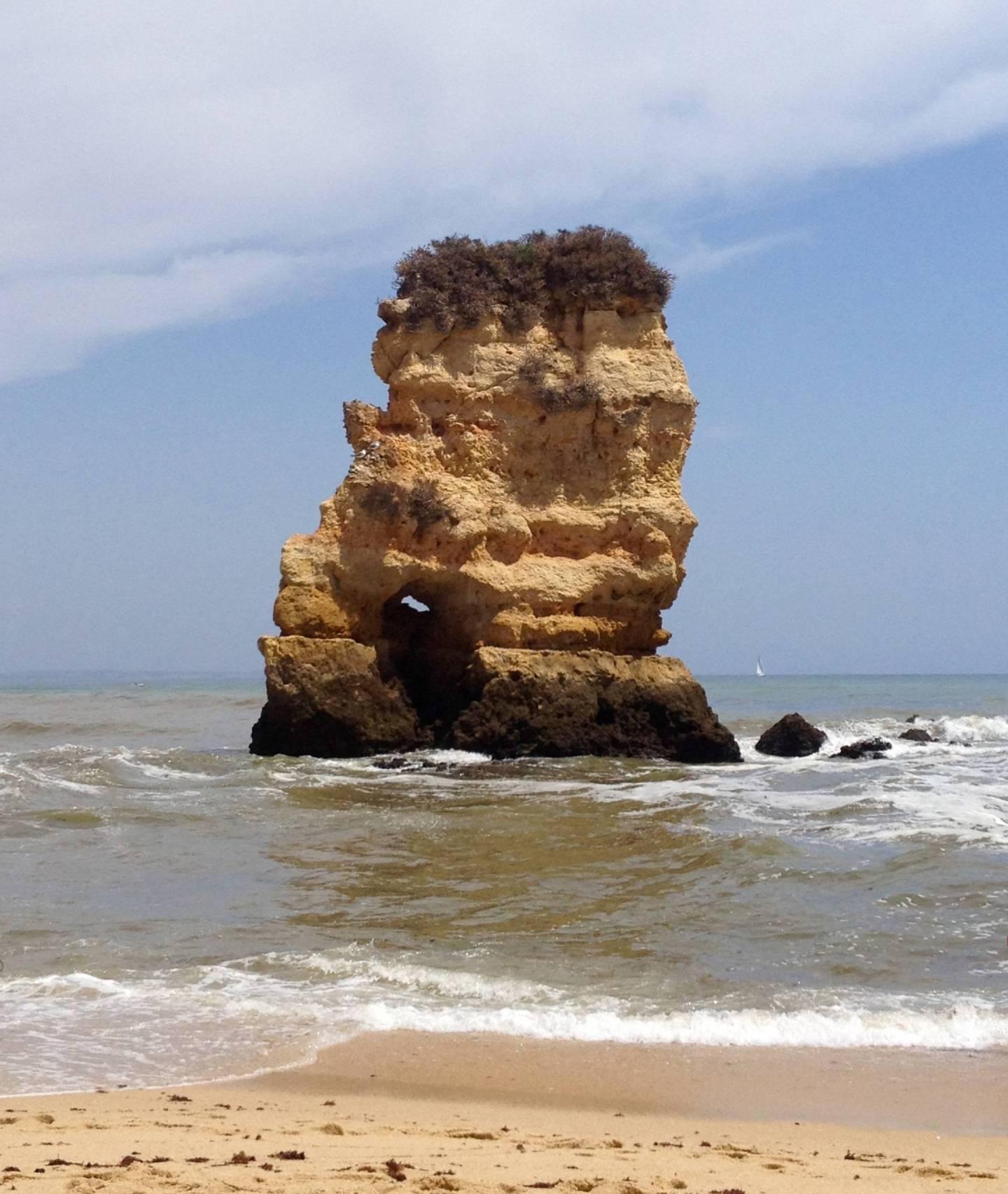 Dona Ana beach ten days in Portugal