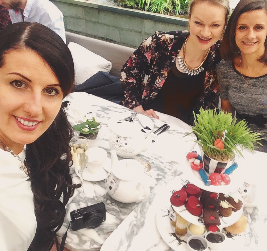 best afternoon tea in London Girls at the Sanderson Hotel London