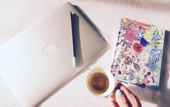 mac and coffee