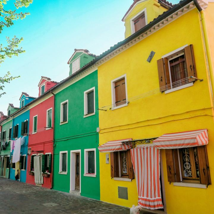 colourful houses island of Burano