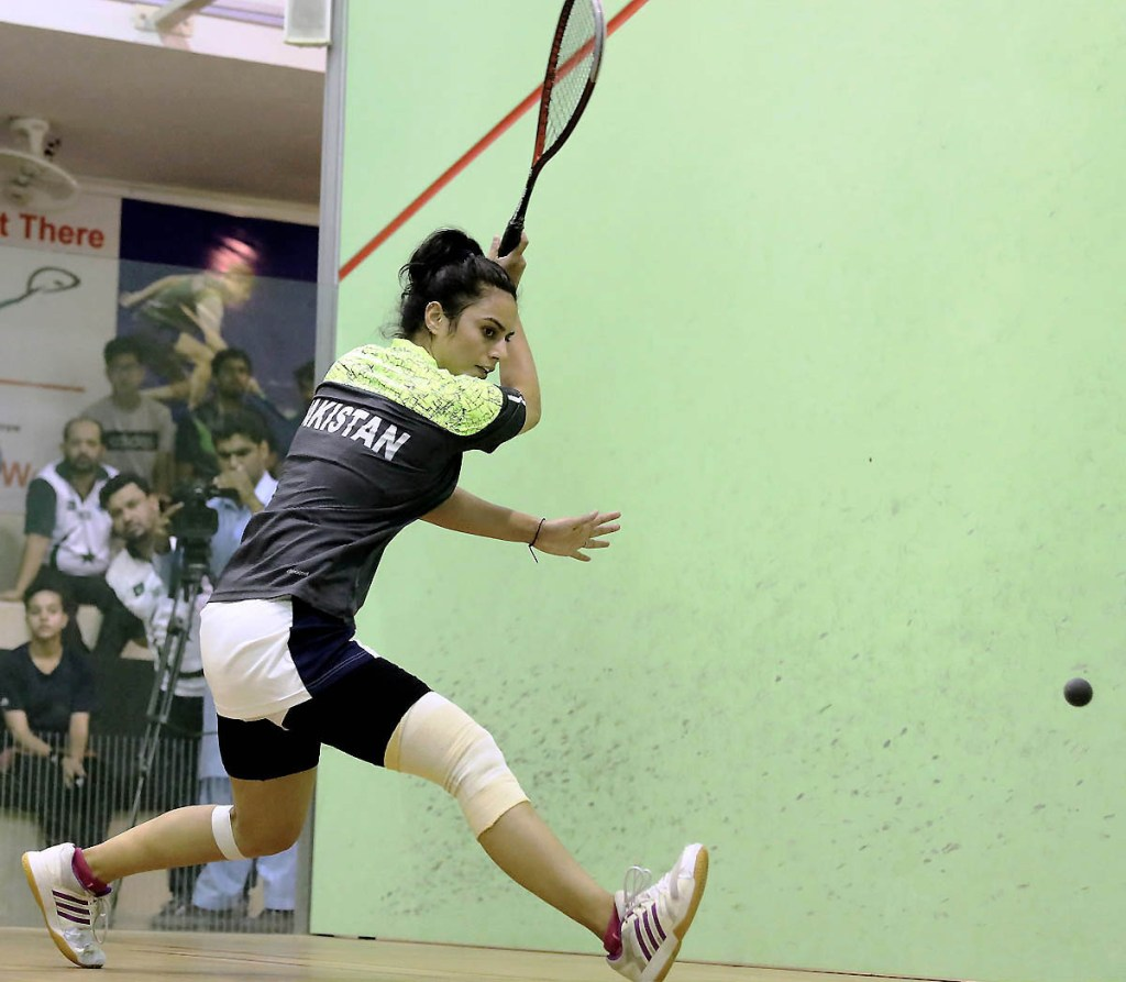 ISLAMABAD: Players in action during Pakistan Squash Circuit for Men & Women at Mushaf Squash Complex.—NNI, May 11