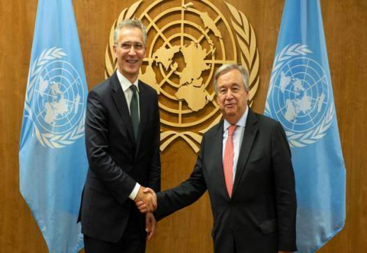 NATO, UN chiefs confer on situation in Afghanistan
