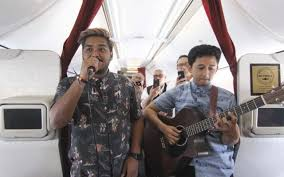 Indonesia's Garuda airline brings live music to the skies