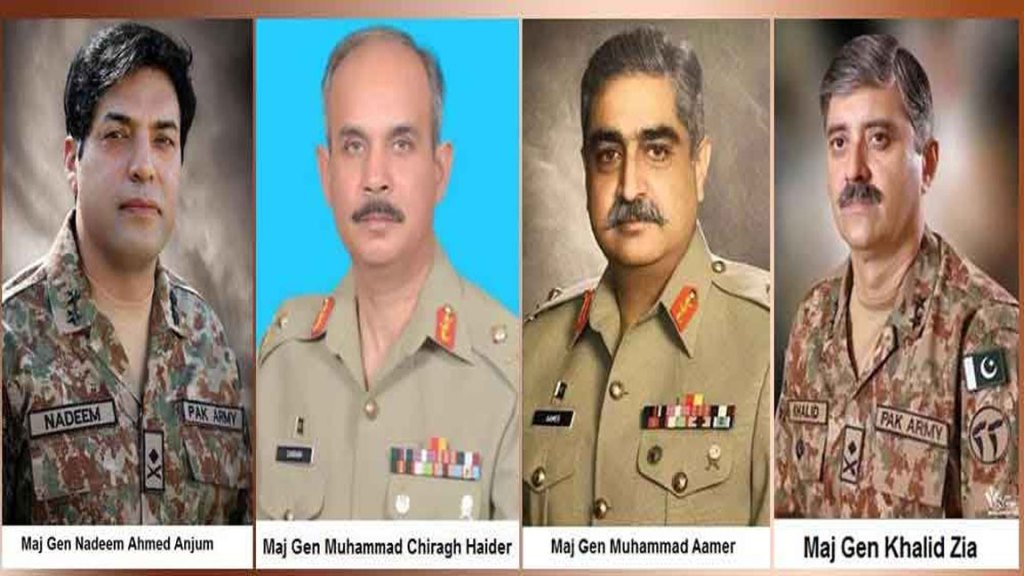 Four Pak Army Major Generals promoted to Lt General rank