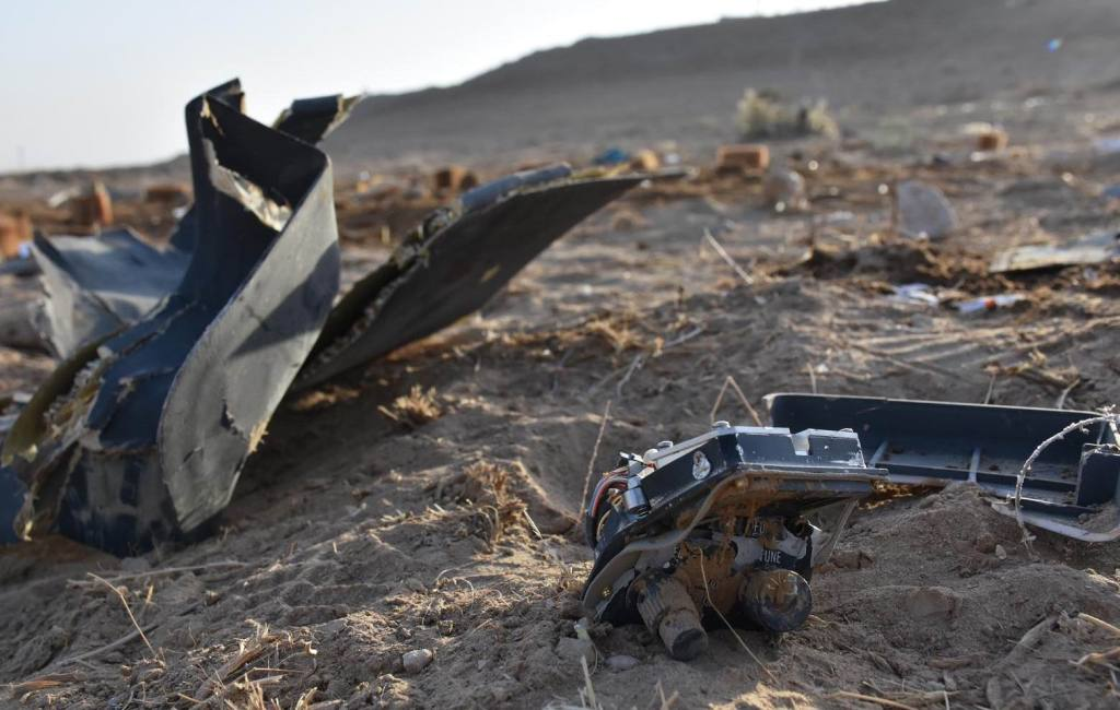MAZAR-I-SHARIF (Afghanistan):  Photo taken on Oct. 16, 2019 shows the debris of a helicopter at the site of a crash in Durrah-i-Hairratan outskirts of Mazar-i-Sharif, Afghanistan. Seven Afghan army personnel were dead after a military helicopter crashed in Mazar-i-Sharif, capital of northern Balkh province on Tuesday, local police said. Xinhua/ INP PHOTO