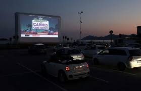 Popcorn, palm trees and face masks Cannes rolls out drive-in cinema