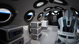 Virgin Galactic reveals space plane's cabin, poised for commercial flights