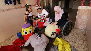 Disabled Palestinian couple sew dolls to give children 'decent life'