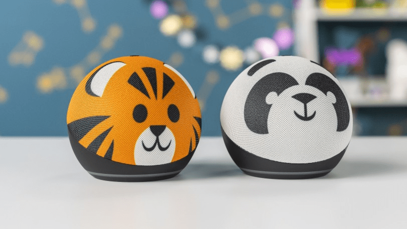 Amazon's Echo Dot Redesigned as Spherical Animal Designs with Reading Feature for Kids Edition