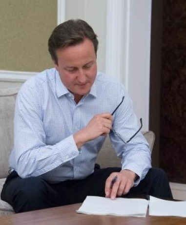 The Guardian - David Cameron orchestrates applause for