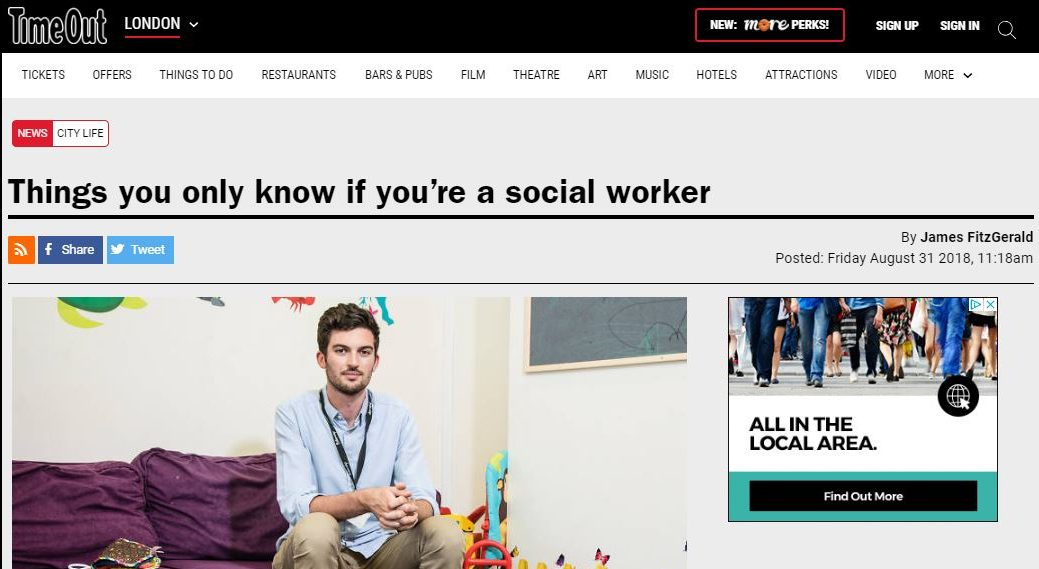 Time Out London – Things you only know if you're a social worker