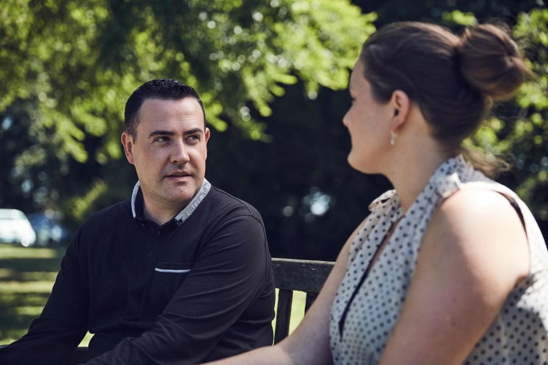 Frontline fellow, Jonny Hoyle with colleague