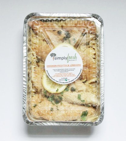 Simply Fresh's Chicken Picatta and Linguine