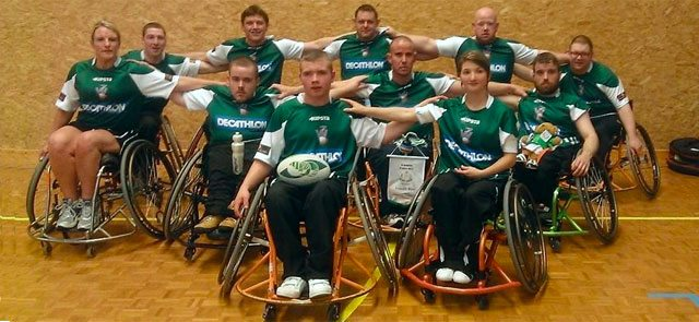 Ireland Wheelchair Rugby Squad. Picture IWA.