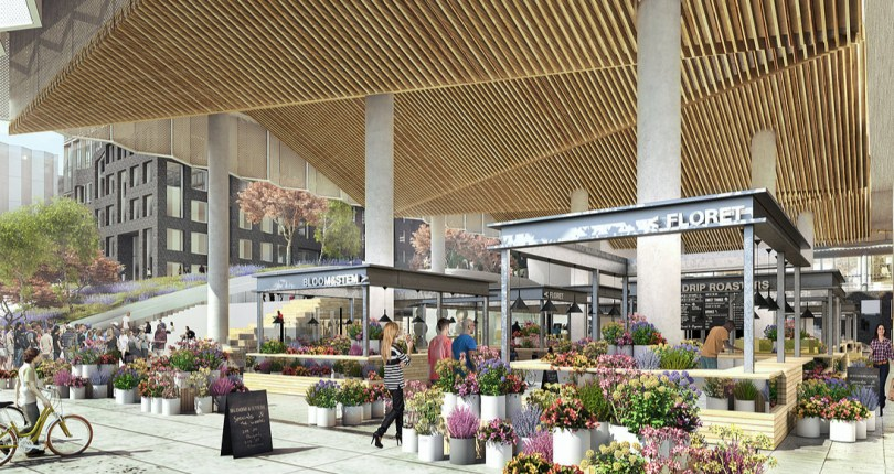 New Renderedings of Above-Ground SF Flower Mart Revealed