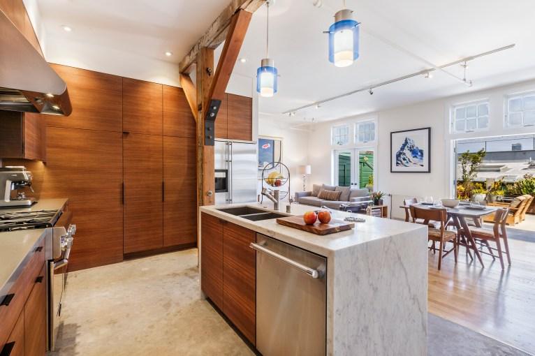 Box Factory Loft Modern/Open Kitchen, Living, Outdoor Space