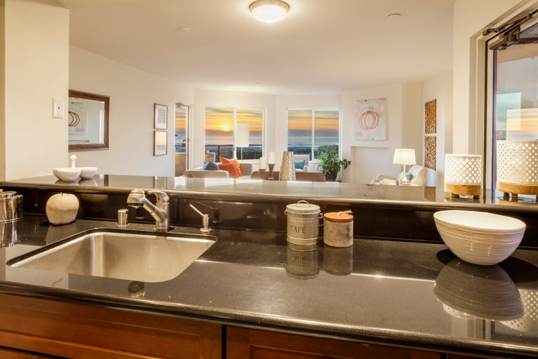 875 La Playa #179 | Outer Richmond | Open Kitchen With Ocean Views