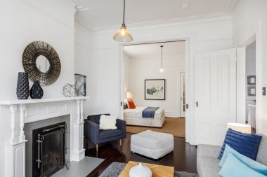 1826 Page St | Living Room to Double Parlor Bedroom