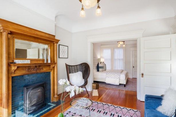 1662 Page St. Living Room & Double Parlor Bedroom