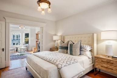 1662 Page St. Double Parlor Bedroom