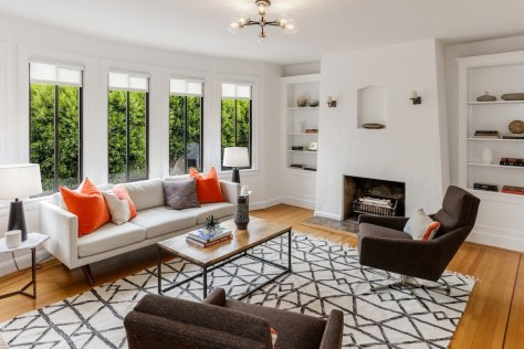 64 Rosemont Pl., San Francisco | Living Room w/ Fireplace