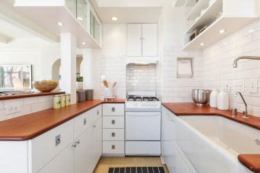 666 Post St. Modern kitchen