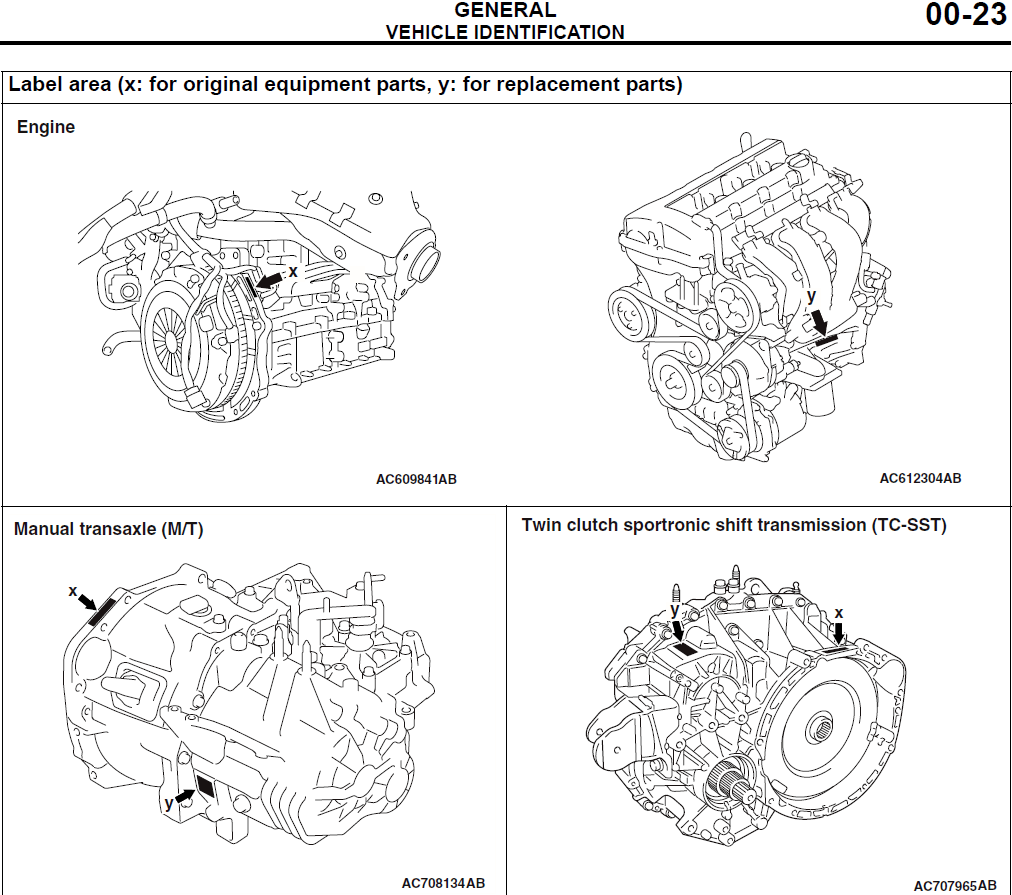 hight resolution of engine serial number location evolutionm mitsubishi lancer and vw 1 8t engine 4b11t engine diagram