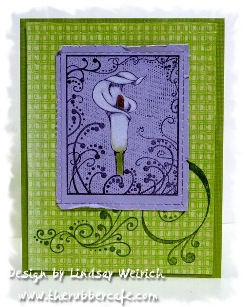 Stamps: The Rubber Cafe, Paper: K&Co, Cardstock: DCWV, Pencils: Prismacolor