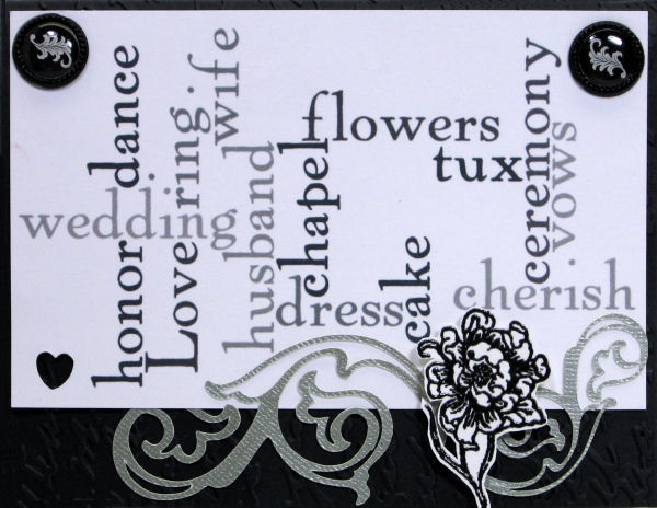 Stamps: About Art Accents, Brads Dollar Tree, Paper: today's freebie