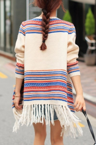 national-wind-striped-cardigan-with-tassel